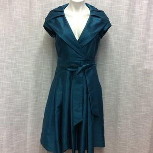 Willow Glenn Dark Teal Lined Dress Size 8
